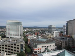 Portland from a rooftop